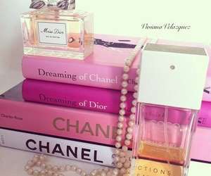 books, pink, and chanel image