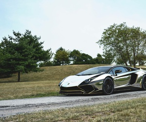 chrome, Lamborghini, and supercar image