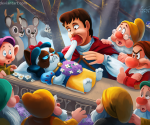 grumpy cat, disney, and snow white image