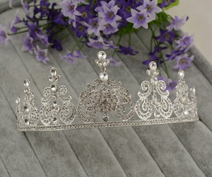 crown, flowers, and purple image