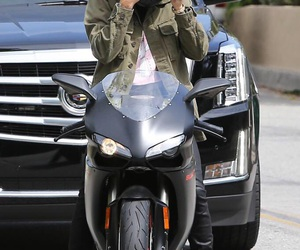 justin bieber, motorcycle, and beliebers image