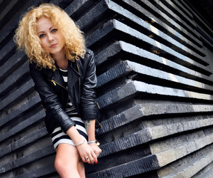 architecture, blue eyes, and curly hair image