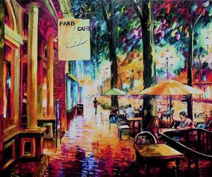 art, colors, and cafe image