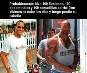 Dwayne Johnson, rock, and excersice image