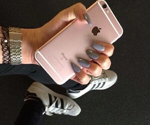 iphone, pink, and adidas image