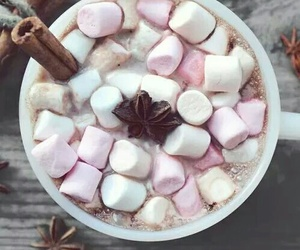 marshmallow, winter, and christmas image