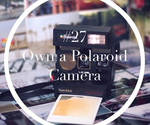 camera, polaroid, and travel image