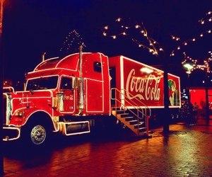 coca cola, christmas, and winter image