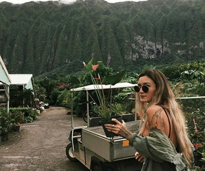 nature, tattoo, and mountains image