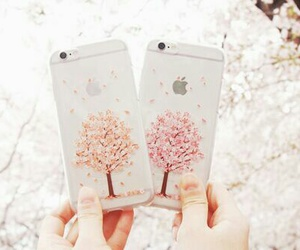 iphone, case, and tree image
