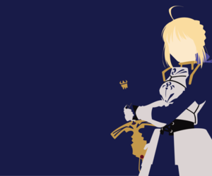 saber, anime, and fate stay night image
