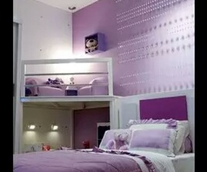 purple, bedroom, and room image