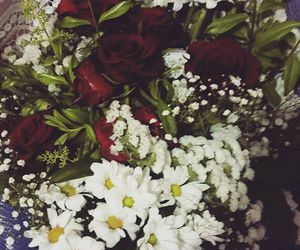 bouquet, flowers, and red rose image