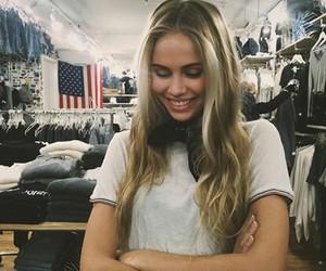 model, blonde, and scarlett leithold image