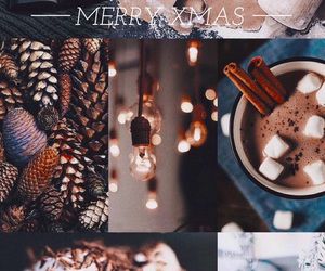 background, chocolate, and christmas image