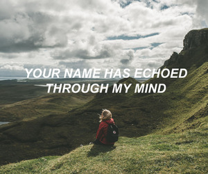 girl, Lyrics, and mountains image