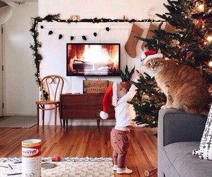 christmas, snow, and baby image