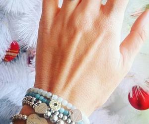 bracelet, christmas, and pandora image