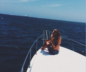 girl, ocean, and luxury image