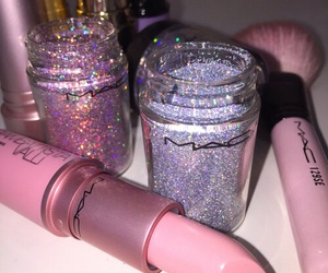 mac, makeup, and pink image