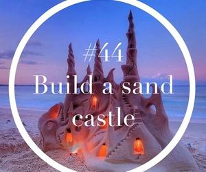 beach, castle, and fun image