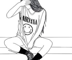 nirvana, outline, and grunge image