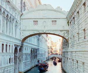 city, gondola, and venice image