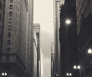 city, wallpaper, and black and white image