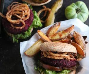 burger, dinner, and food image