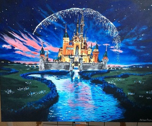 art, castle, and disney image