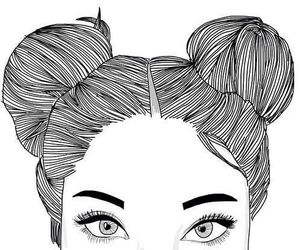 beauty, space, and buns image