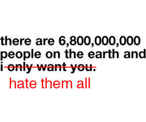 hate, people, and earth image