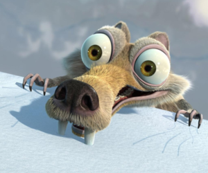 ice age, scrat, and squirrel image