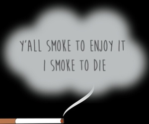 alone, smoke, and quote image