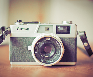 camera, canon, and photo image