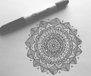 b&w and drawing image