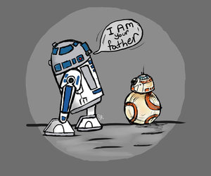 r2d2, bb-8, and star wars image