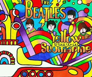 art, beatles, and colors image