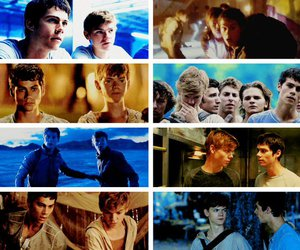 newt, the maze runner, and dylmas image