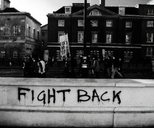 fight, black and white, and fight back image