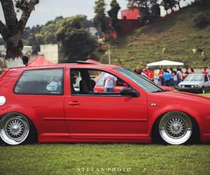 golf, red, and mk4 image