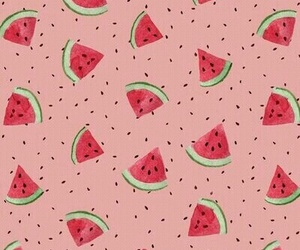 watermelon, wallpaper, and pink image