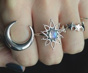 fashion, girl, and moon image