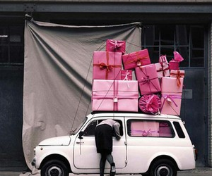 gift, pink, and vintage image