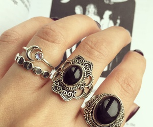 black, rings, and accessories image