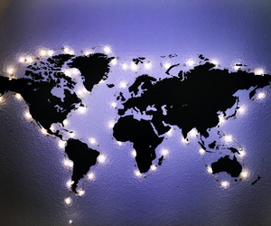 light, world, and map image
