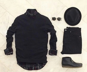 black, men, and menoutfit image