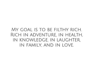 goals, rich, and quotes image