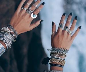 fashion, rings, and nails image