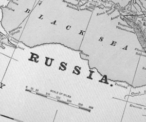black and white, russia, and russian image